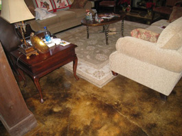 concrete-stain-dining-room